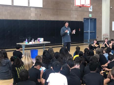 Students learn how much sugar are in some of the drinks they consume